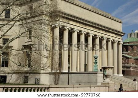 Columbia University Campus Library - stock photo