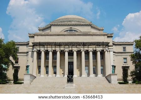 Columbia University Library in New York City - stock photo