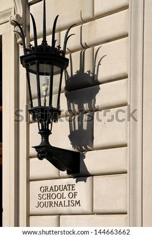 Columbia University, New York, Graduate School of Journalism - stock photo