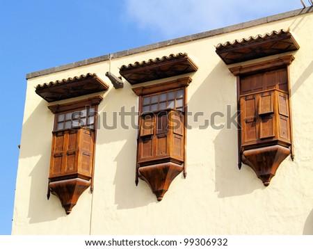 Columbus House Detail(Casa de Colon), Las Palmas, Canary Islands, Spain - stock photo