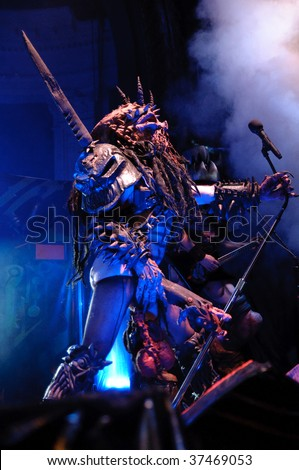 COLUMBUS, OH - SEPTEMBER 19: Thrash metal band GWAR perform at the Newport Music Hall on September 19, 2009 in Columbus, Ohio