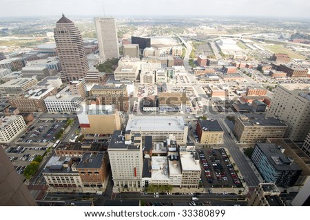 Columbus skyline - stock photo
