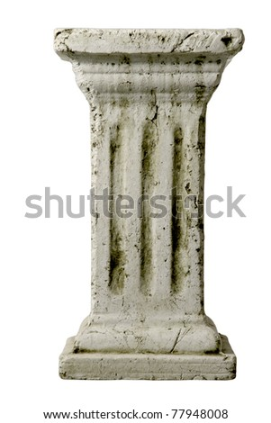 Column. - stock photo