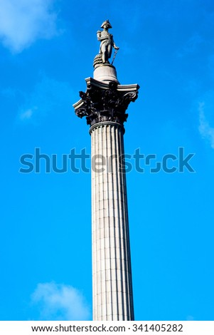 column in london england old architecture and sky
