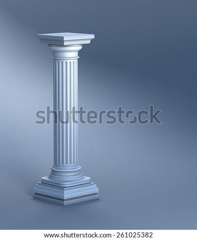 Classic Architectural Detail Roman Column Close Stock