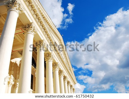 Columns and sky - stock photo