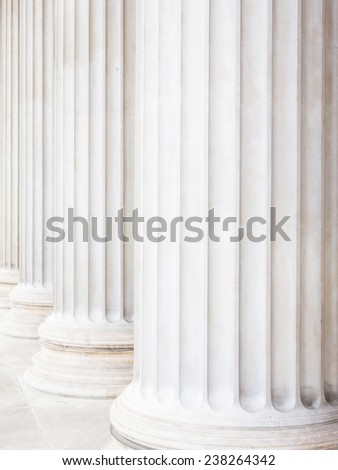 columns at the parliament in vienna, symbolic photo for architecture, stability, history