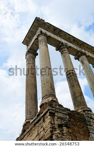 Columns in Rome in ancient Forum area