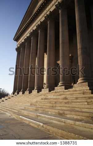 columns of courthouse - stock photo
