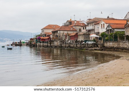 Combarro is a Galicia town of tourist and cultural interest. Fishing village and famous for its old town made of natural stone. Combarro, Poio, Pontevedra, Galicia Spain
