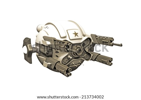 combat drone isolated on white background - stock photo