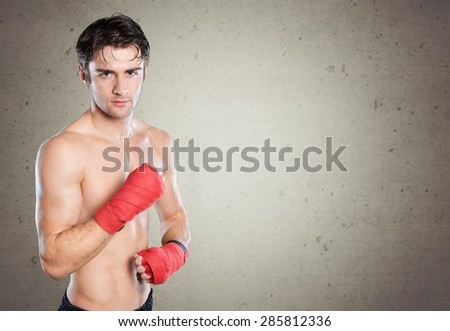 Combative Sport, Boxing, Human Muscle. - stock photo