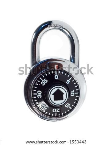 Combination Lock - stock photo