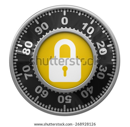 Combination Lock (clipping path included)