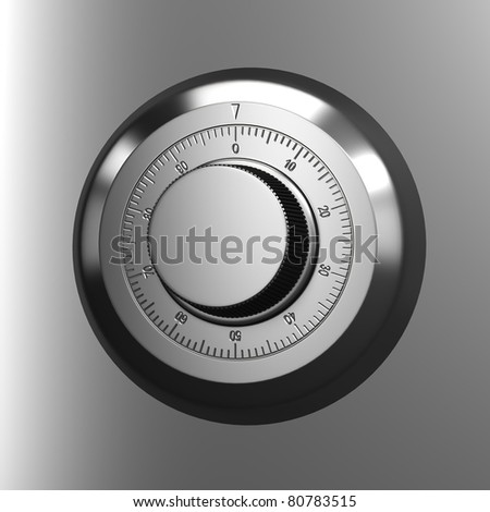 Combination lock. Close up render - stock photo