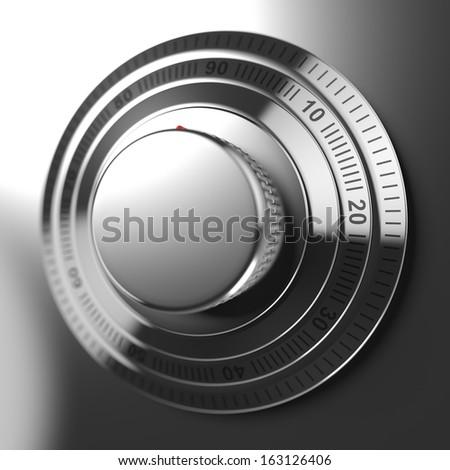 Combination lock closeup - stock photo