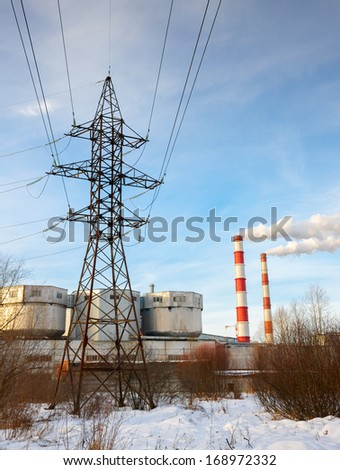 combine heat and power station - stock photo
