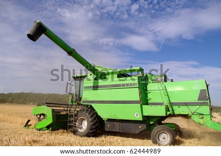 Combine on the field - stock photo