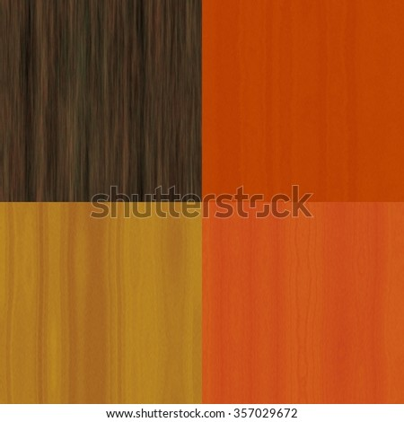 Combined set of natural wooden texture or background. Dark, Light