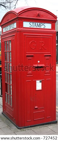 Combined Telephone and Postal Box