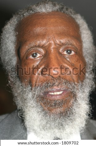 Comedian Dick Gregory - stock photo