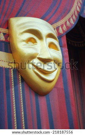 Comedy Mask,  theater concept - stock photo