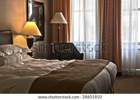 Comfort Hotel Room - stock photo
