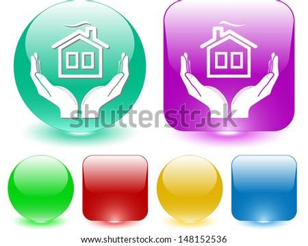 comfort in hands. Interface element. Raster illustration. - stock photo
