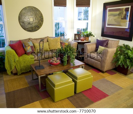 Comfortable living room. - stock photo