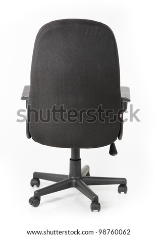 Comfortable office chair isolated on white background - stock photo