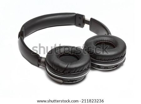 comfortable wireless headphones open type on a white background