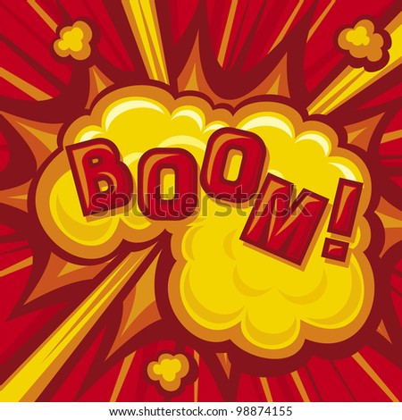 Comic Book Boom Explosion Background