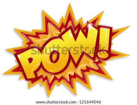 comic book element isolated on white background - stock photo