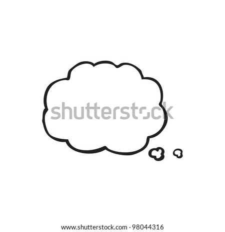 comic book thought bubble - stock photo