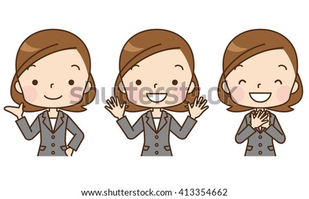 comic style business woman