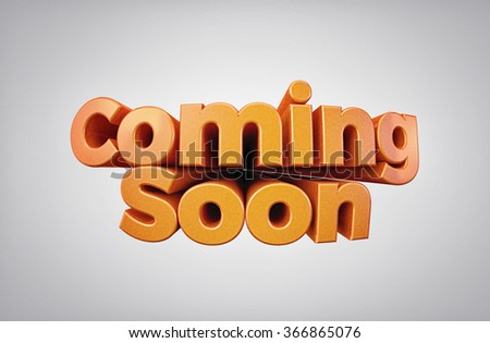 Coming Soon - High quality 3D Render - stock photo