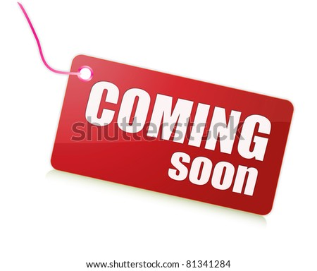 Coming Soon red - stock photo