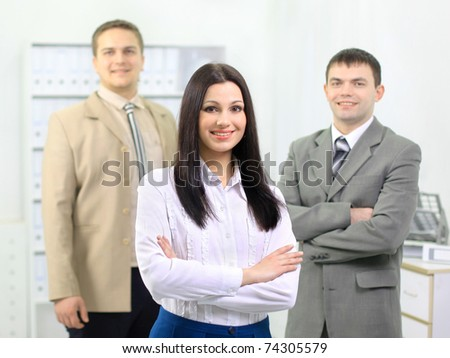Command(team) of the business people at light office