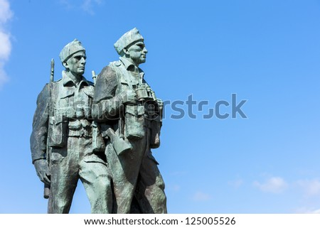 Commando Memorial at Spean Bridge, Highlands, Scotland - stock photo