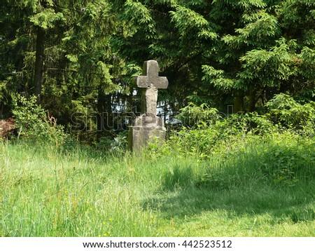 commemorative stone - stock photo