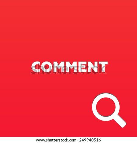 COMMENT - stock photo