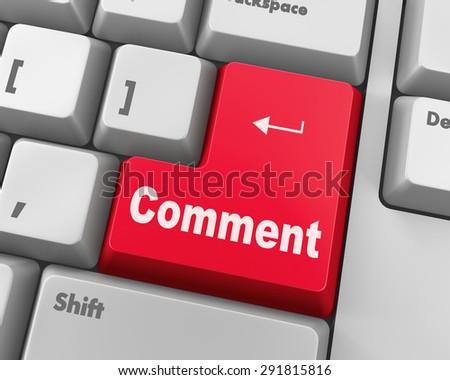comment enter key - stock photo