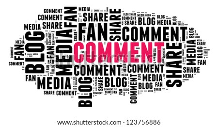 Comment in word cloud - stock photo