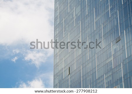 Commercial Building with blue sky - stock photo