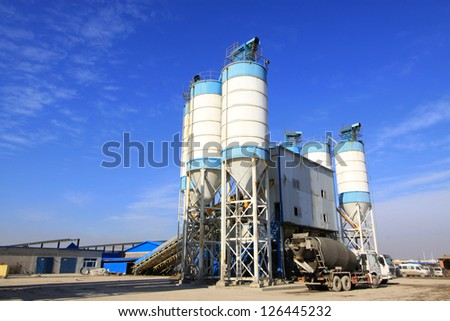 commercial concrete mixing station in north china