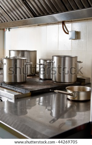 Commercial kitchen - stock photo