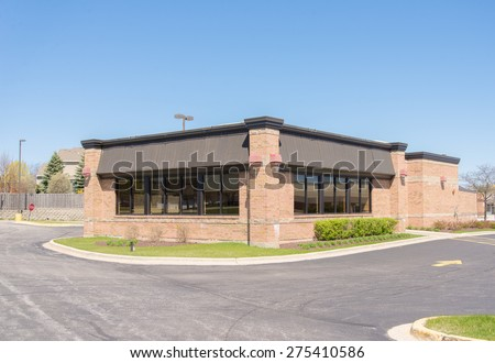 commercial retail restaurant building or small office building - stock photo