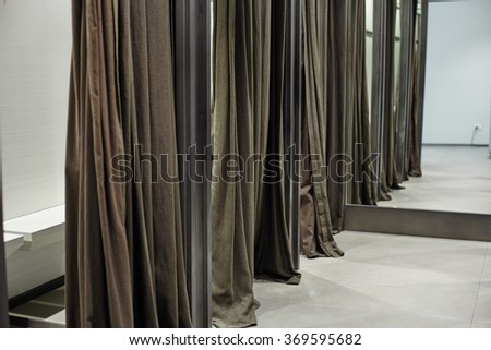 Commercial store interior for fitting room