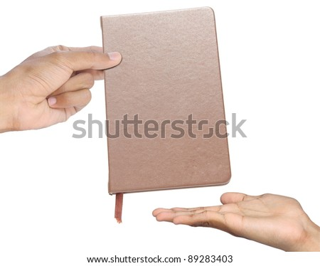 Commissioned.Send to Hand book. - stock photo