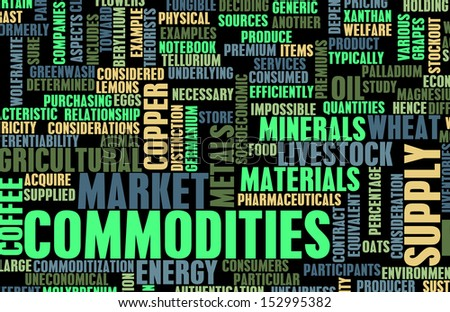 Commodities Trading on a Global Scale as Concept - stock photo